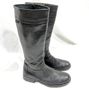 Camper Black Leather Tall Boots